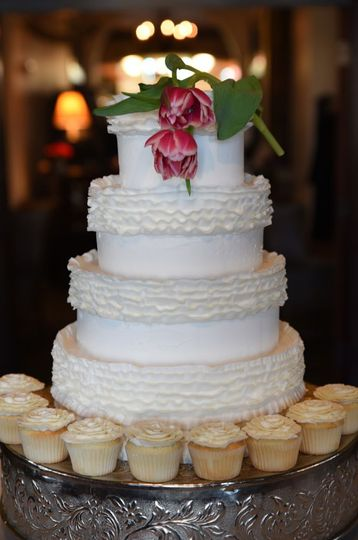 """Ruffly"" Wedding Cake"