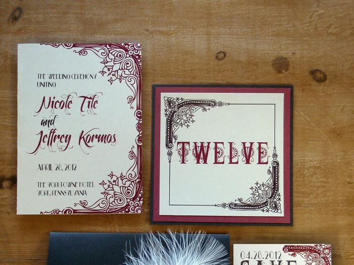 Tmx 1353385441688 ArtDeco2 York, Pennsylvania wedding invitation
