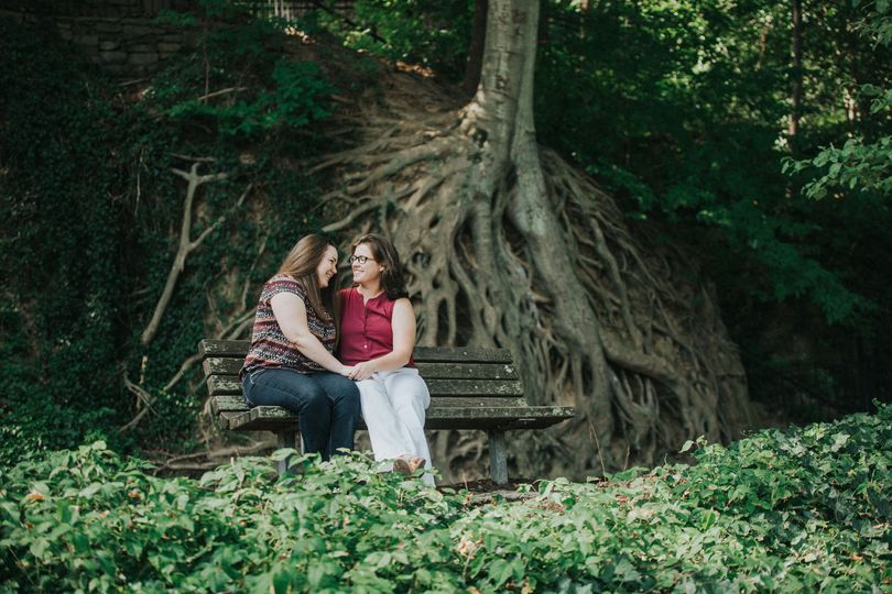 Engagement Session for Cat & Lauren at Greenville's Falls Park