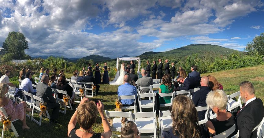 Outdoor wedding setting