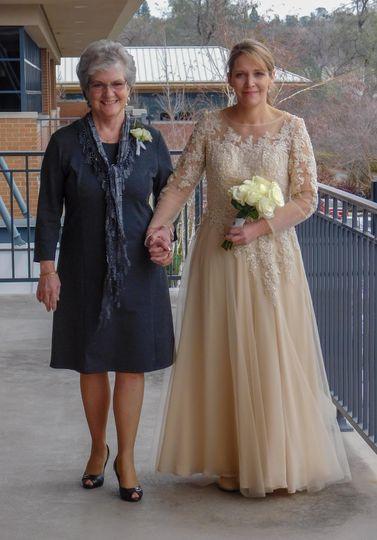 Bride and bride's mom