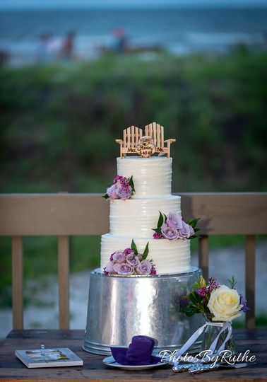 Towering wedding cake