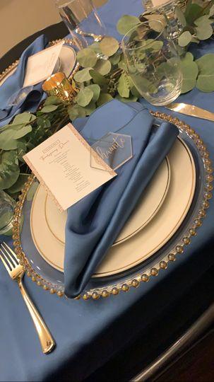 Elegance decor table setting