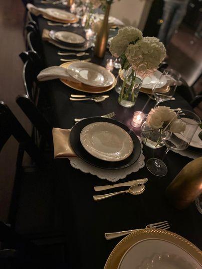 Posh decor table setting