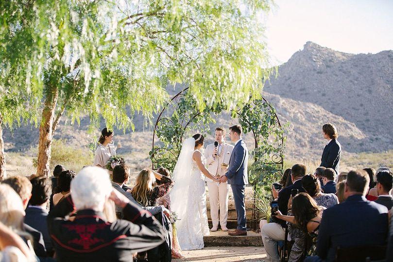 Ceremony w/ our trellis arbor