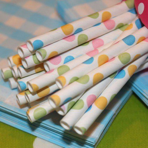 Striped Paper Straws -- many colors to choose from!