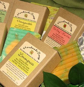 Handmade soaps -- lots of scents to choose from