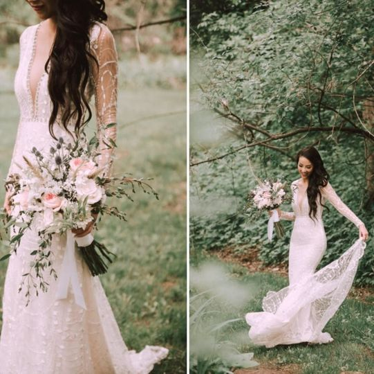 June 26 2018 Wedding at Wolf Oak Acres - Brides Bouquet