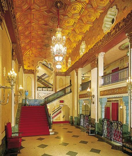 Lobby area of the Alabama Theatre