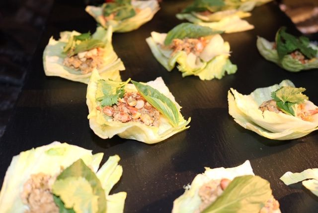 Spicy Ground Duck lettuce cups