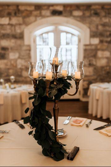Elegant candles + foliage