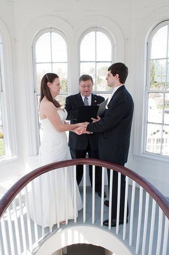 Ann and Peter - Ceremony in the cupola of Thayer's Inn - Littleton, NH - April 10, 2010