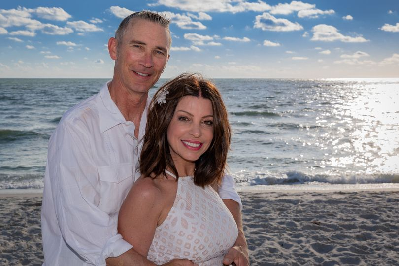 Nancy and Greg's beautiful beach wedding