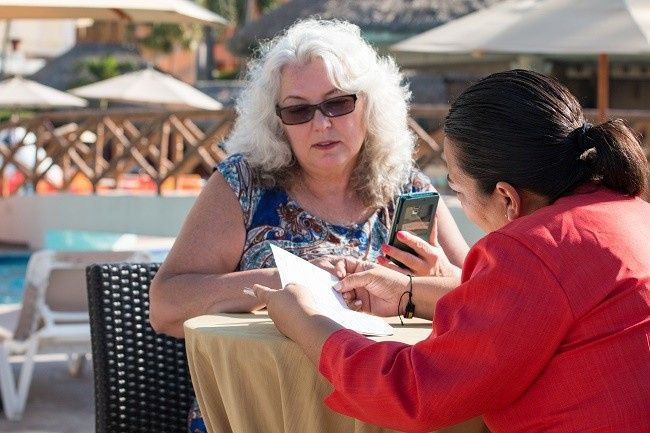 Janine Ferko onsite with wedding planner
