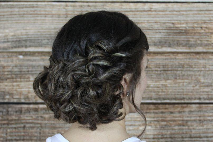 Curls in updo
