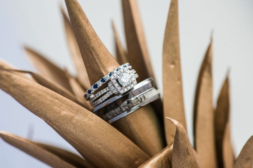 Stylishly presented rings