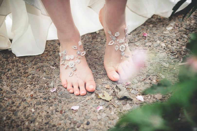 theia silver crystal lace barefoot sandals 1