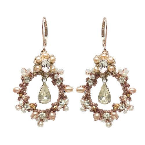 Tmx 1420149000540 Rose Gold Earrings Bennington wedding jewelry