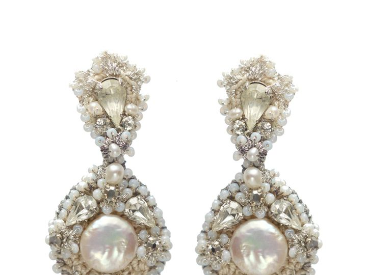 Tmx 1420149514139 Nereid Earrings White Bennington wedding jewelry