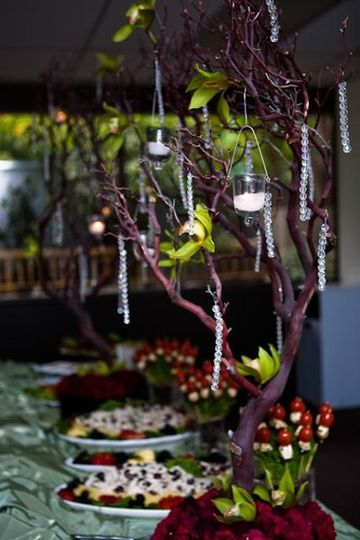 Reception in the Garden Room. Flowers by Stem Floral Events. Photo Credit: Rengie Mendoza...