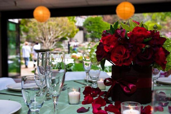 Reception in Garden Room. Flowers by Stem Floral Events. Photo Credit: Rengie Mendoza Photography....