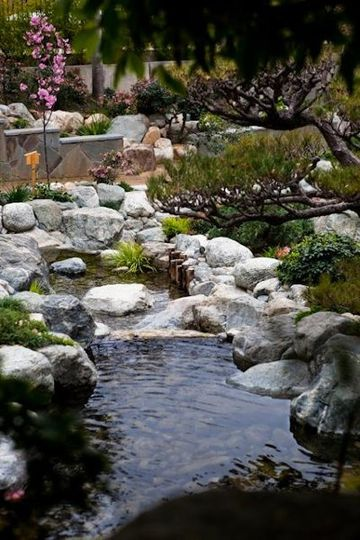 The Garden features a 170' stream that flows from a waterfall at the top of the Garden and ends in a...
