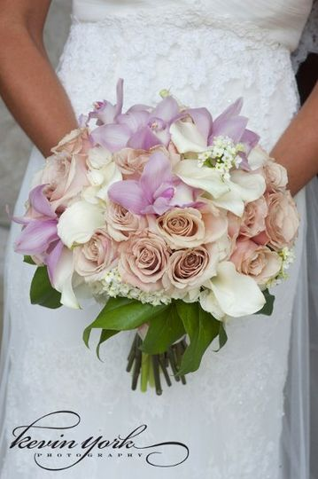 Bridal bouquet, calla, Kevin York Photography