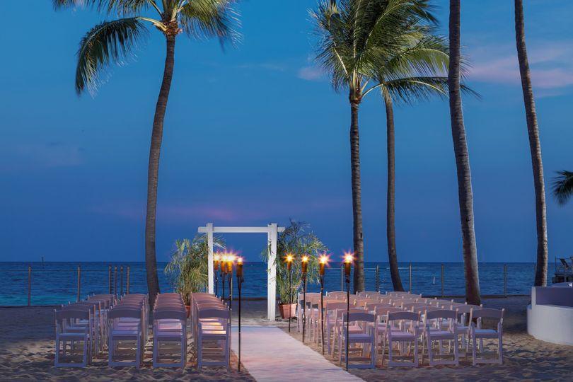 smob private beach wedding