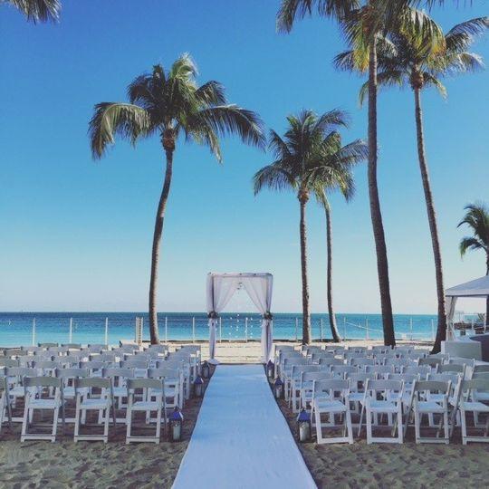 ceremony private beach february 2016