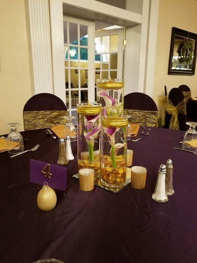 Plum and gold wedding