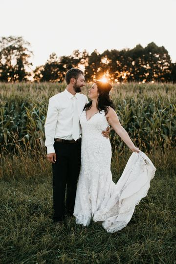 Standing in a field at sunset - Alyssa Pearl Photography