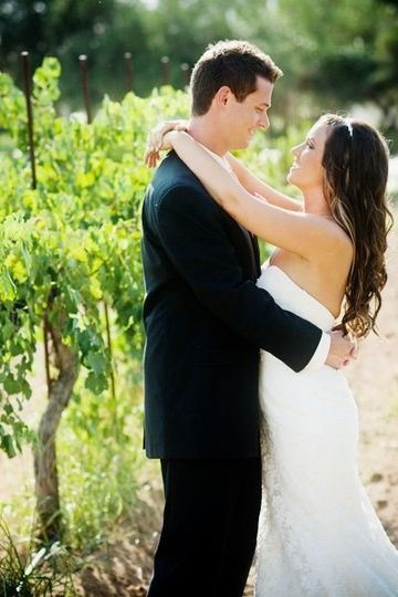 Bride and Groom at Rancho Bernardo Winery