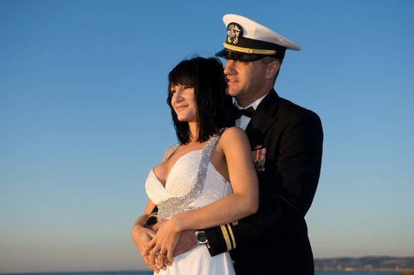 Military couple at Sunset Cliffs