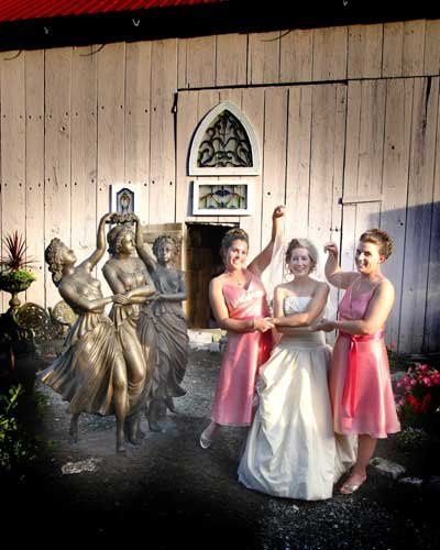 Bride with her bridesmaid portrait