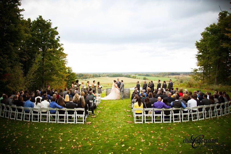 Wedding ceremony reception