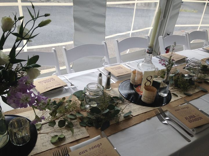 Guests wedding table
