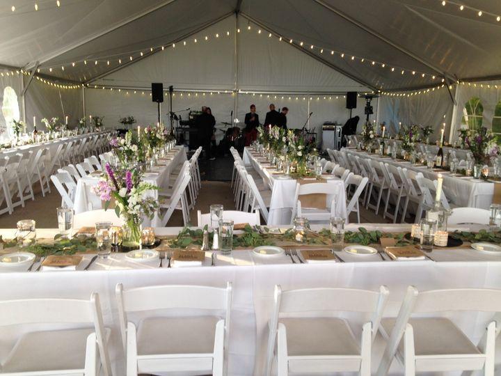 Pavilion dining setup
