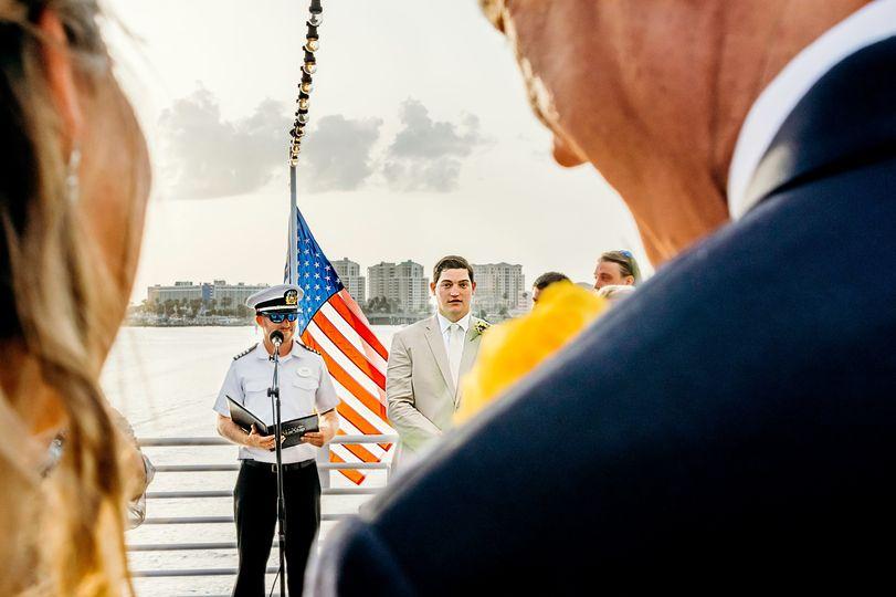Starship Yatch Navy Wedding