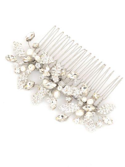 blake rhinestone starburst bridal hair comb in sil