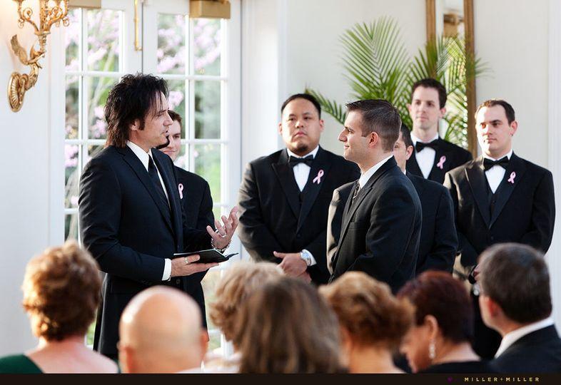 chicago wedding photographer groom ceremony