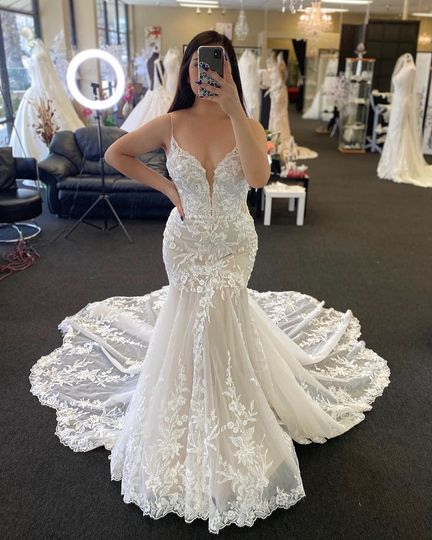 Sexy Fitted Lace Wedding Dress