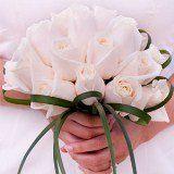 bridalbouquestromanticivoryrosest