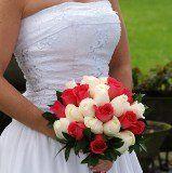 bridalbouquetroyaldpinkwhiteroses