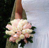 bridalbouquetroyallpinkivoryroses