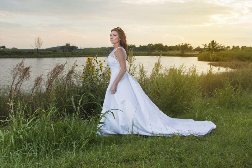 Sunset bridal shoot