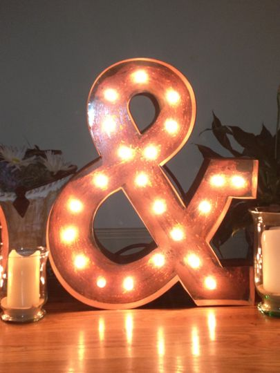 """This Ampersand is 24"""" tall, with the rusted vintage finish. It can be made in any size or..."""
