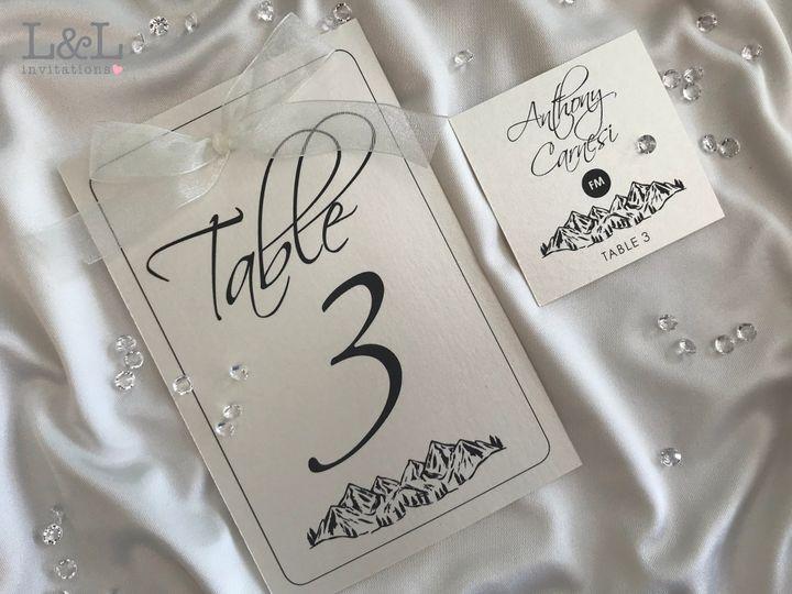 Liz & Jeff Table Markers