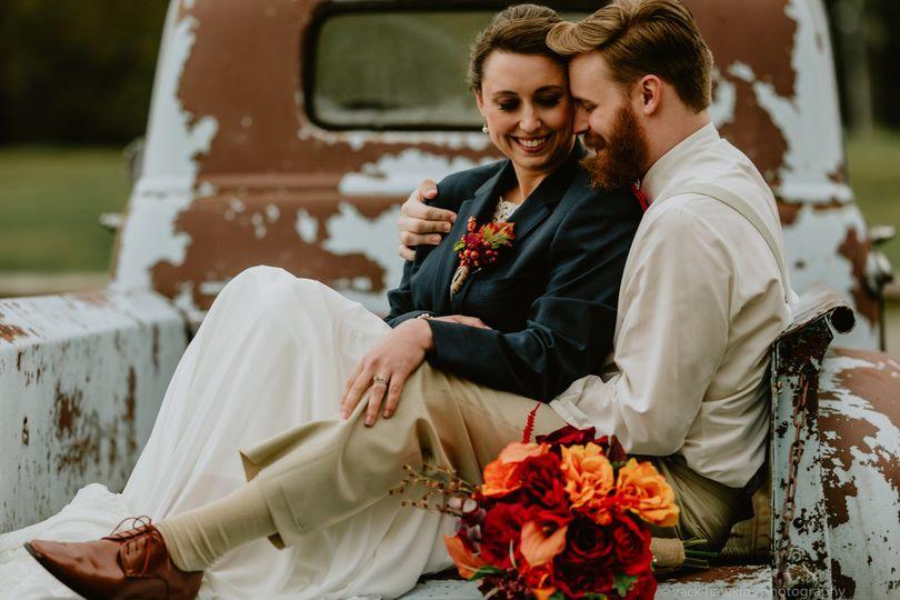 Truck bed romance