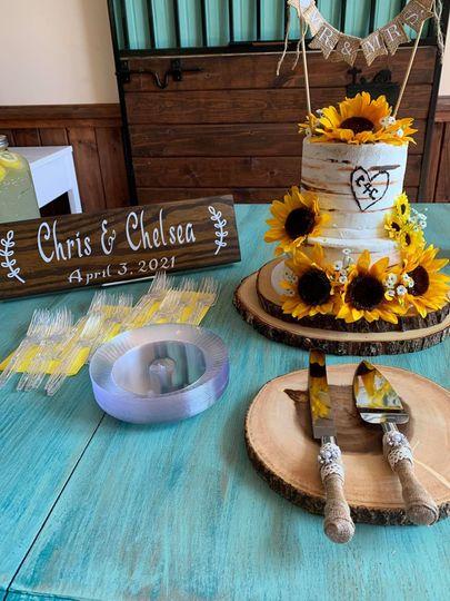 Wedding cake April 2021