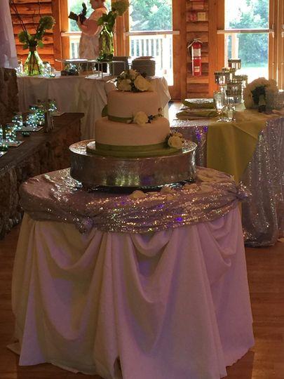 Multiple layeredc cake